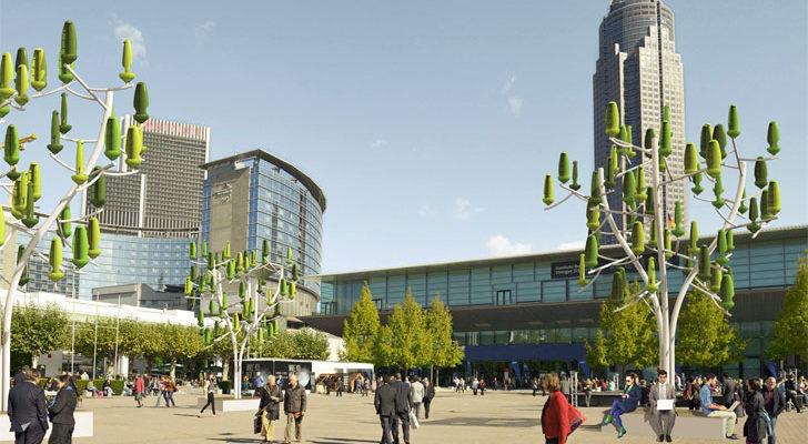 Francia integra árboles que generan electricidad en su Entorno Urbano